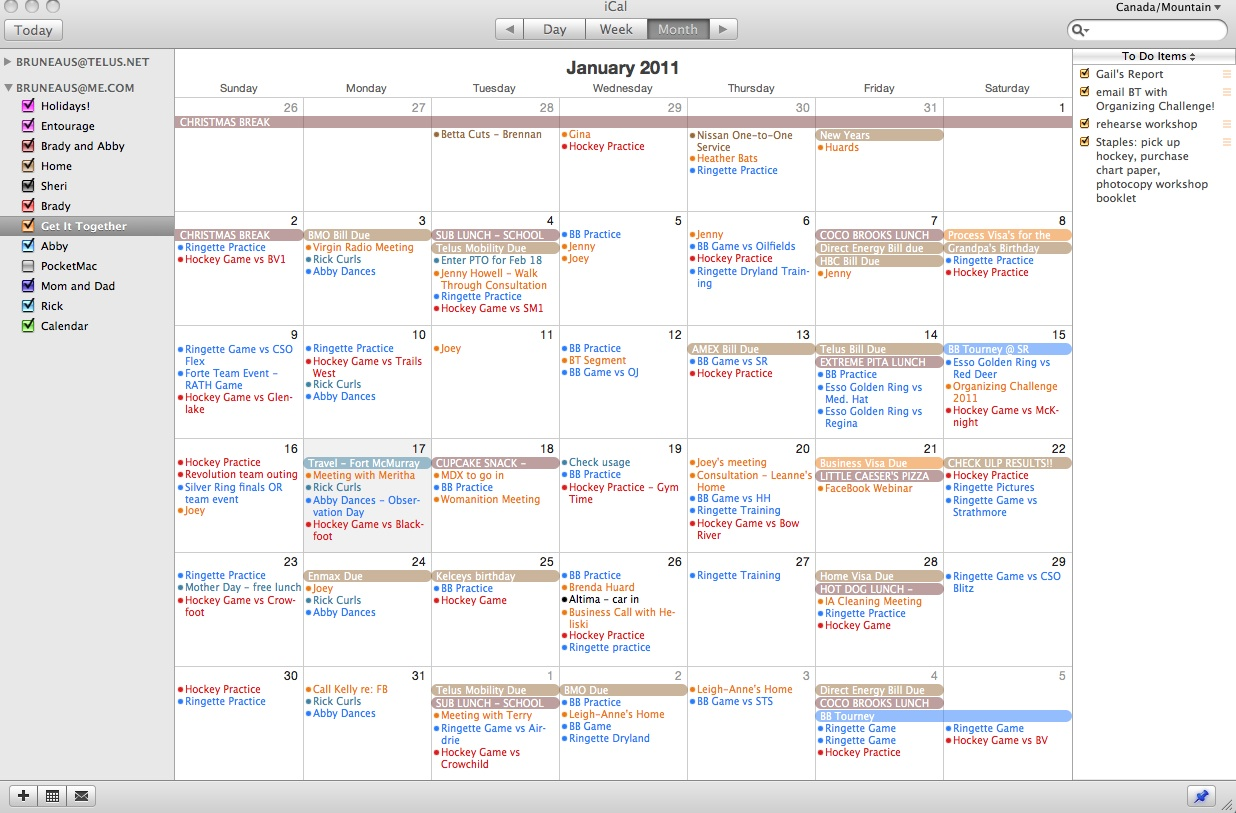 Apple Calendar Color Change
